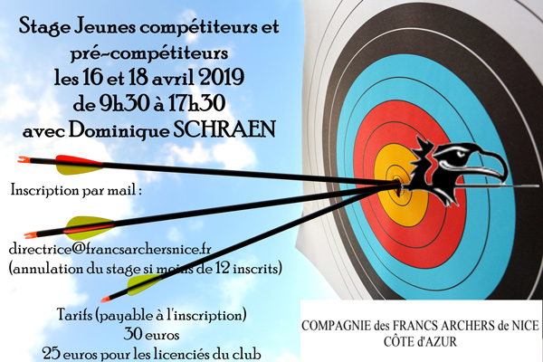 affiche stage jeunes avril 2019